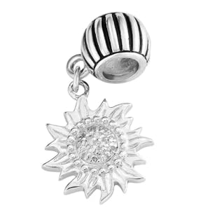 sun puerto rico jewelry charm sterling silver
