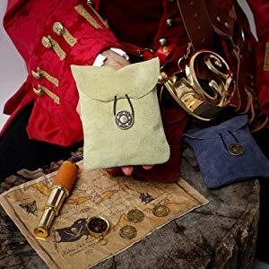 Mythrojan Genuine suede leather adventurer's bag SCA LARP Reenactment ELF Drow Dark knight medieval