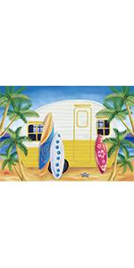 Camping Surfboard Backdrop