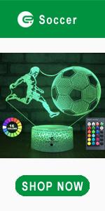 easuntec soccer 3d led illusion lamp