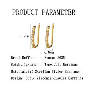 No piercing wrap bar earrings
