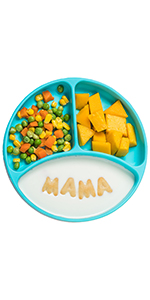 Kids plates for baby that stick to highchair tray kids plates