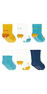 Adorel Calcetines Antideslizantes Invierno para Bebé 6 Pares