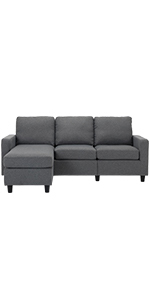 Grey Sectional Sofa Couch
