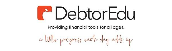 debtoredu logo progress for budget planner finances
