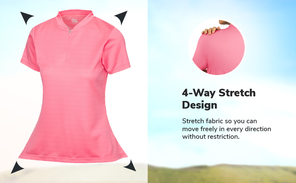 4-way stretch fabric allows you to move freely in any direction without restriction.
