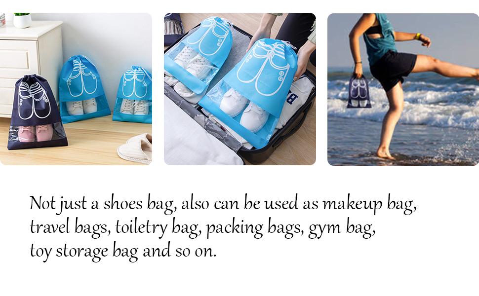 SPIKG Portable Travel Shoe Bags Shoe Organizer Space Saving Storage Bags