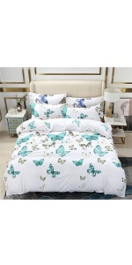 YOU SA Butterfly Design Bed Cover Set