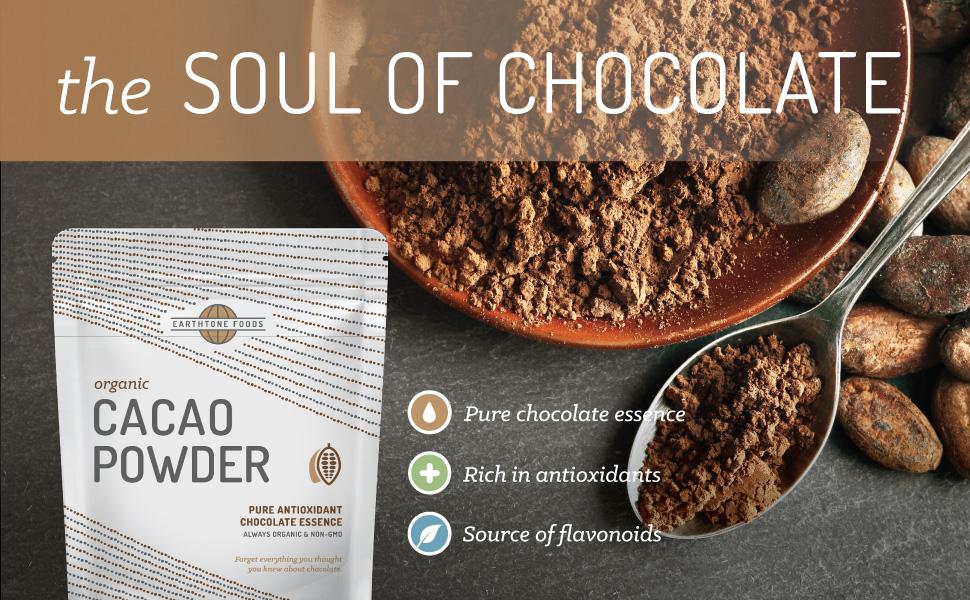 organic cocoa powder soul of chocolate drink antioxidant nibs