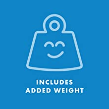 6 weights included with purchase adding up to 2lbs of added weight