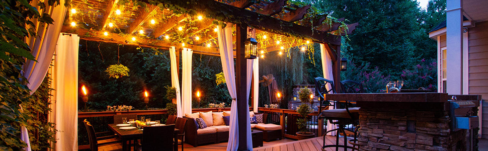 Outdoor String Lights for Backyard