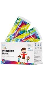 Tie Dye Kids mask