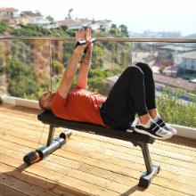 flat folding bench maxpro fitness portable gym strength training