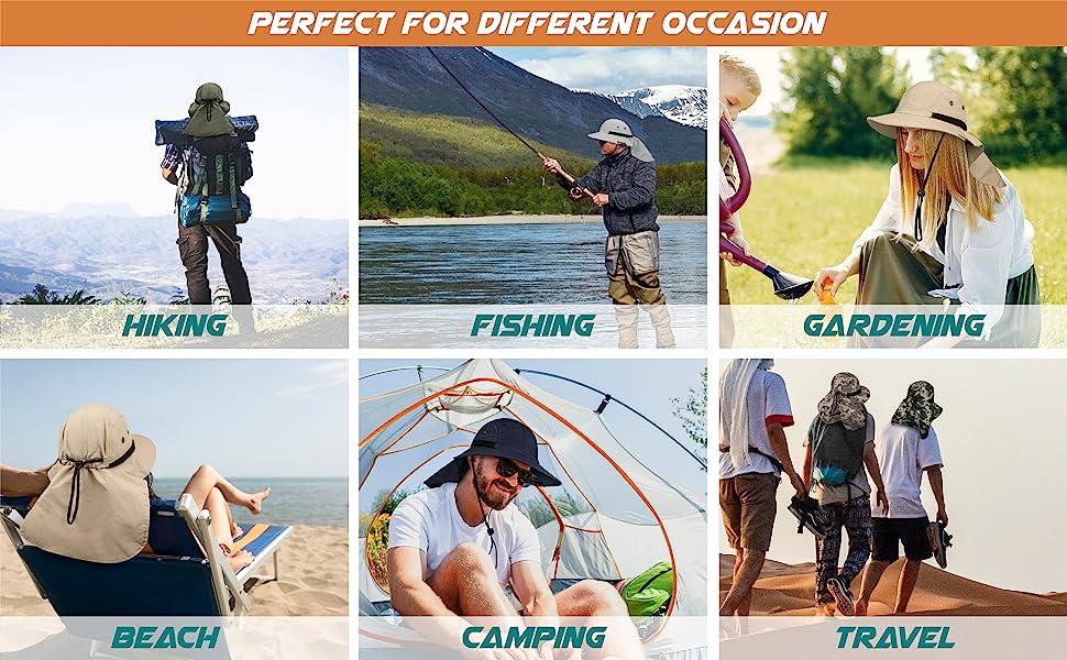 hat for fishing, hiking, safari, beach, fishing , gardening, camping