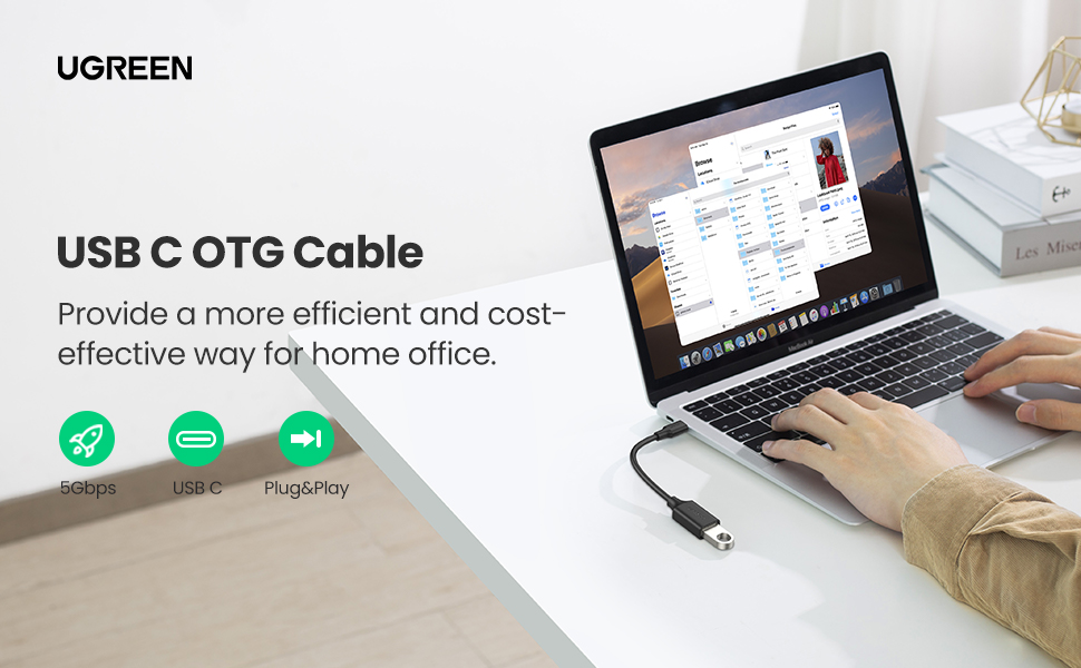 LG V30 Google Pixel 2 XL OnePlus 6 5T MacBook Pro 2017 UGREEN USB C to USB Adapter OTG Cable Type C to USB-A 3.0 Female Connector Compatible for Samsung Galaxy S9 Plus S8 S10 Note 9 8 Nexus 6P 5X