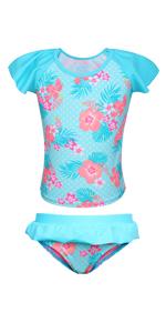 Ruffle sleeve Swim Skirt