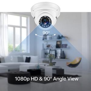 1080p HD & 90° Angle View