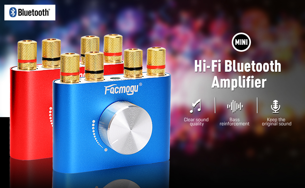 Mini Bluetooth Amplifier 50W+50W