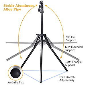 ring light with alloy pipe stand