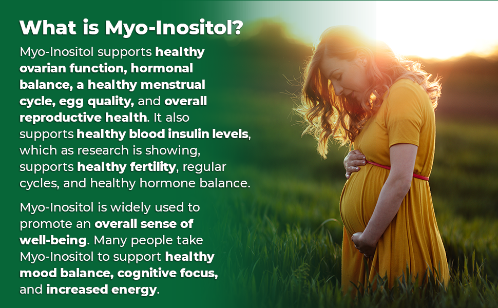 Zazzee Myo-Inositol supports overall reproductive health, healthy fertility and regular cycles.