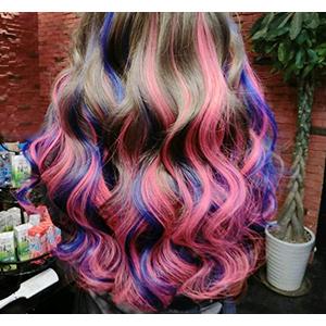 Tiza para el cabello, Tiza de Pelo, Cabello Tiza, Hair Chalk, 24 Colores Temporales Para el Cabello, No tóxicas, ideal para carnaval, fiesta, Navidad, ...