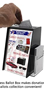 """Marketing Holders 5""""W x 9""""H Acrylic Ballot Box With Sign Holder And Brochure Display"""