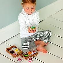 Teigroller UVM f/ür Kinder Kekse // Ausstechformen bee SMART Kinder H/ölzerne Keks // Pl/ätzchen Backset aus Holz und Zubeh/ör 20 St/ücke Backpinsel Backblech