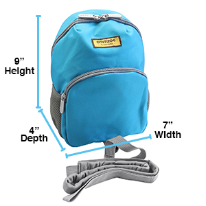emmzoe toddler kids baby safety travel harness backpack leash 9 x 4 x 7 inches