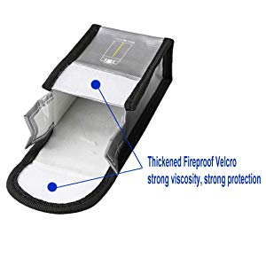 Tineer Safe Bag nylon Lipo Batteria per DJI Mavic Mini Accessori Protezione della batteria Borsa di stoccaggio prova di esplosione Pouch Small