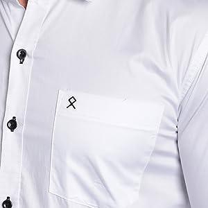 white giza cotton shirt mens