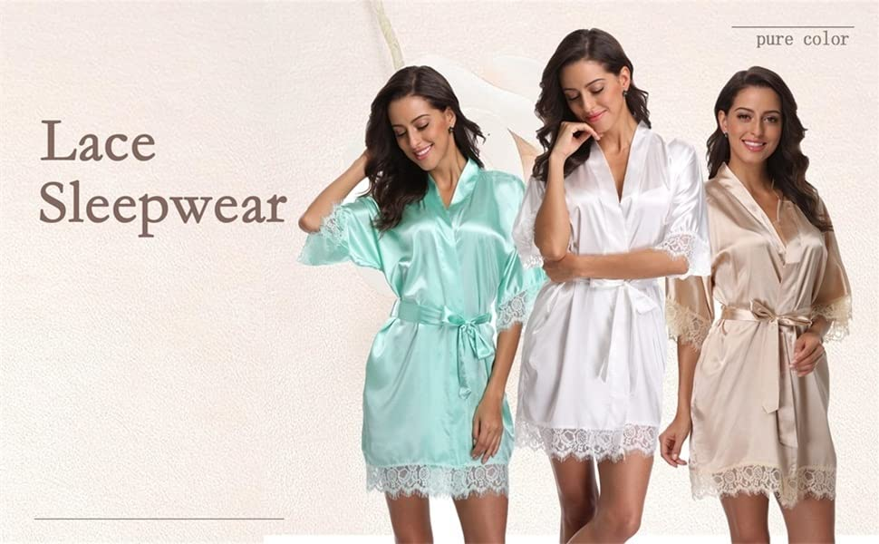 womens short nightwear for wedding solid color sleepwear daily spa robe light weight quick dry robe