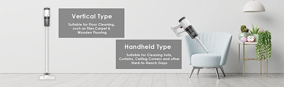 Vertical cleaning handheld cleaning