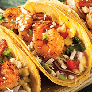 Snack House Puffs Flaming Red Hot Spicy Shrimp Tacos