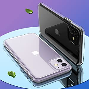iphone 11 case clear ultra thin slim fit protective case for girls women