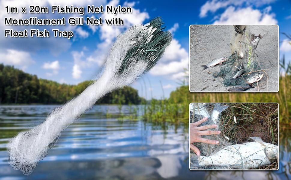 Fishing Net Single Mesh Nylon Durable Accessories Float Trap Monofilament GiZ6