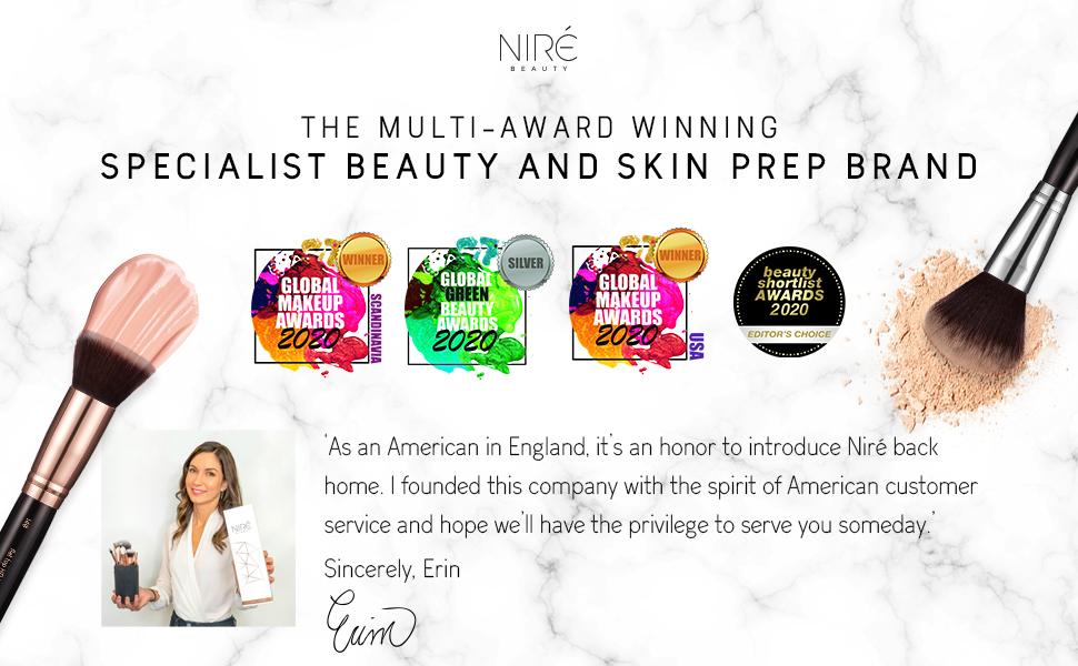 Niré Beauty professional makeup brushes