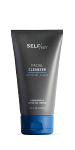 SELF/ish mens face wash active acid vitamin boost for mens skin cleanser shower daily man skincare
