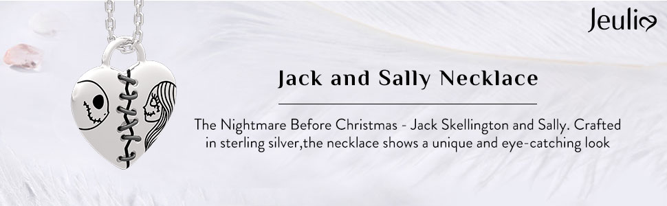 Jeulia  jack and sally couple rings 925 sterling silver customised eternity band rings
