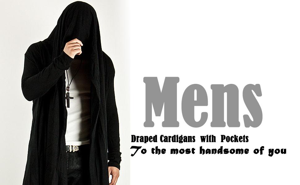 Mens Draped Cardigans