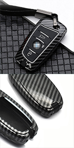 rubber keycase housing carbon keychain for bmw fobs cover remote