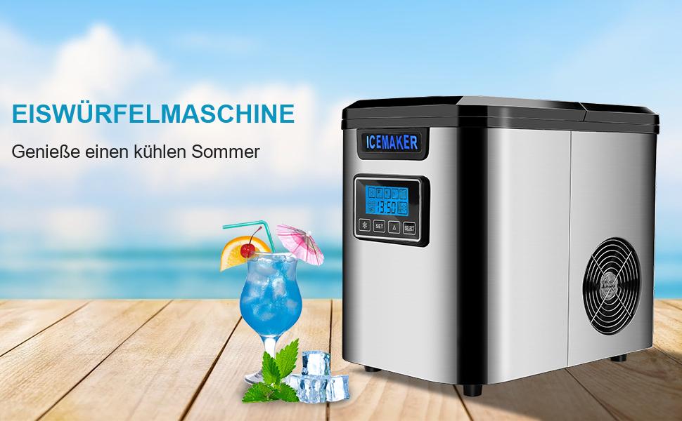 EiswüRfelbereiter EiswüRfelmaschine Ice Maker Edelstahl EiswüRfelmaschine EiswüRfelbereiter