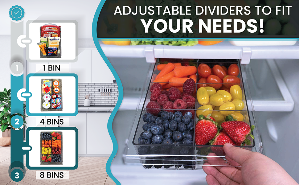 Adjustable Dividers to Fit Your Needs