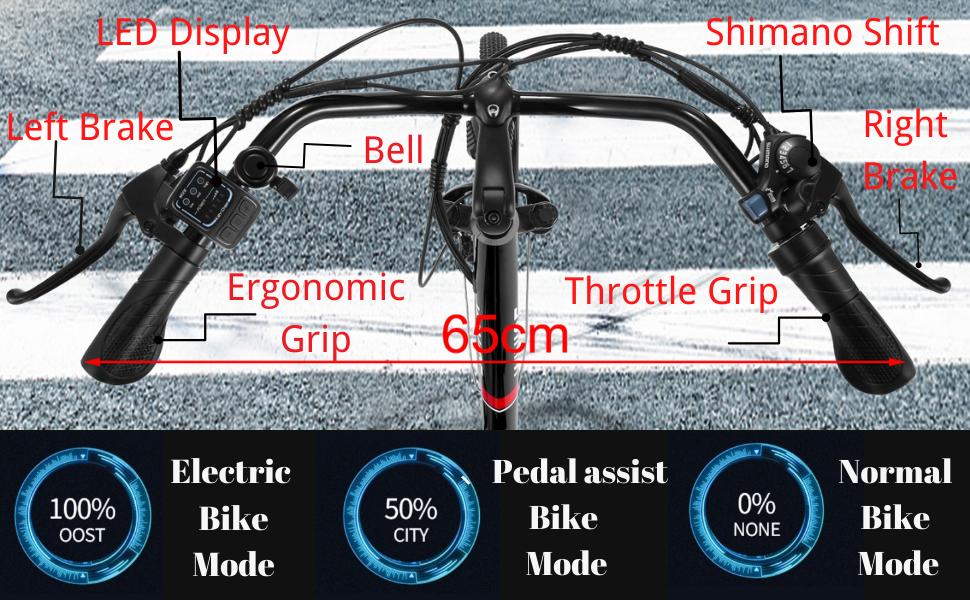 Vivi C26 Handlebar Function Desceription electric scooter for adults