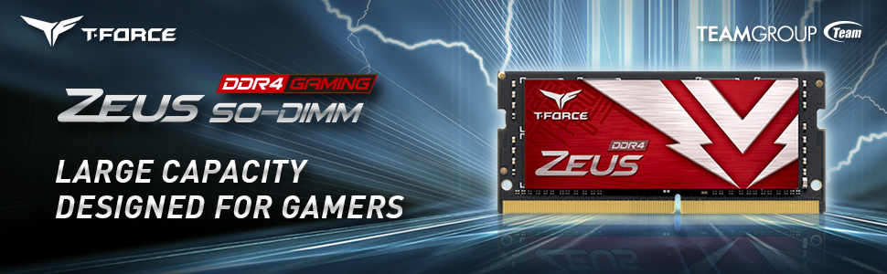 TEAMGROUP T-FORCE ZEUS DDR4 SODIMM LAPTOP MOMORY MODULE