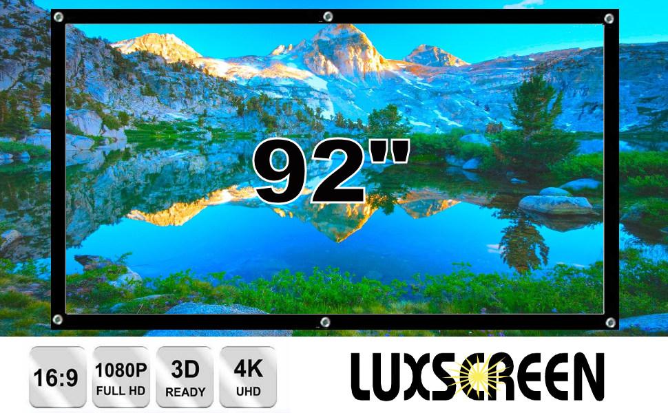 """tela de proyeccion 92"""", pantalla de proyeccion, pantalla para proyector, pantalla portatil, 4k, 3d"""