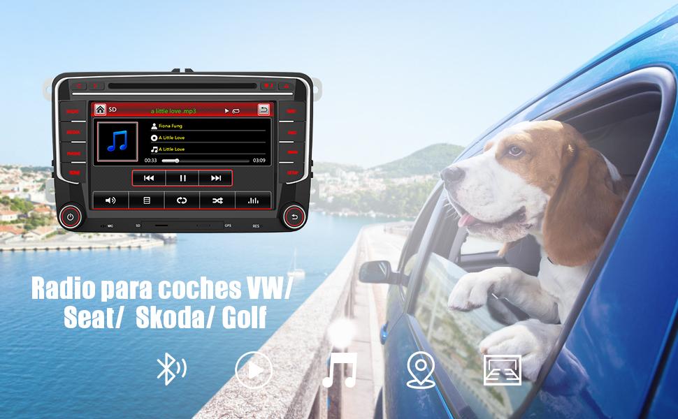 radio VW volkswagen Golf Polo  Passat  Jetta Seat exeo Tiguan Sharan Sagita Caddy Turan EOS