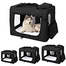 dog Pet transport carrier crate cage bag fabric M black cat animal Soft travel carry case Portable