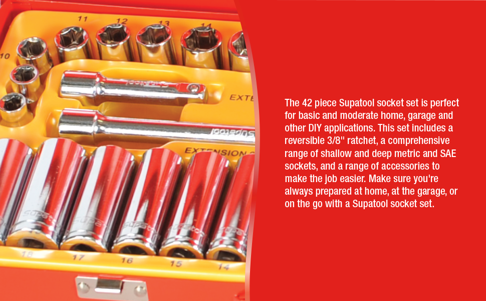 supatool socket set ratchet and socket tool set automotive tools mechanics tools socket wrench