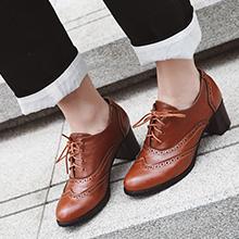 chunky heel oxfords ladies
