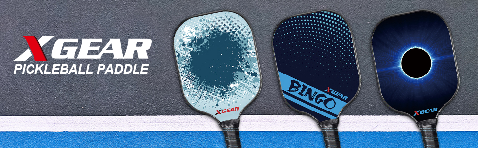 XGEAR Pickleball Paddle Features Polymer Honeycomb Composite Core, Graphite Face, Slim Edge Guard, Cushion Comfort Grip with Cover, Lightweight Racket ...